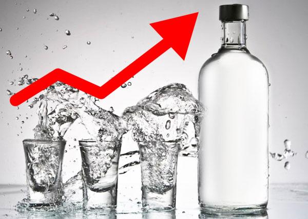 Подняли минимальную цену на водку