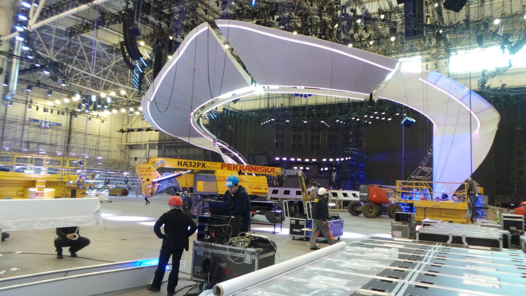 Главная сцена Евровидения 2017 в Киеве: фото
