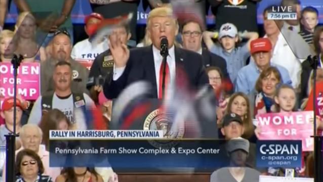 Трампу устроили салют из российских флагов